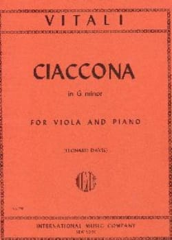 Ciaccona in G minor Tommaso Antonio Vitali Partition laflutedepan