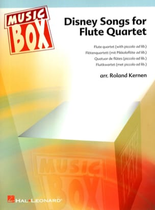 Disney Songs For Flute Quartet Roland Kernen Partition laflutedepan