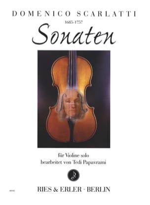 Sonaten SCARLATTI Partition Violon - laflutedepan