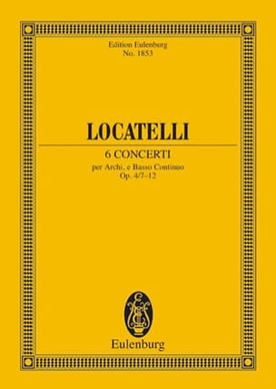 6 Concerti Op.4/7 - 12 LOCATELLI Partition Petit format - laflutedepan
