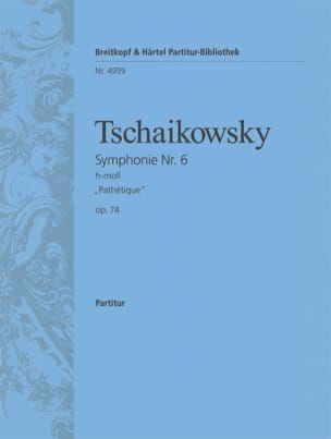 Symphonie Nr. 6 h-moll op. 74 Pathétique - Partitur laflutedepan