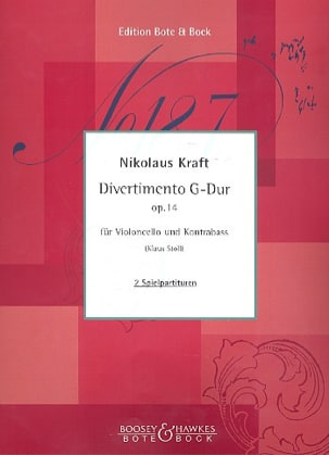 Divertimento en sol majeur op. 14 Nikolaus Kraft laflutedepan
