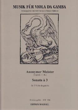 Sonate A 3 Partition Viole de gambe - laflutedepan