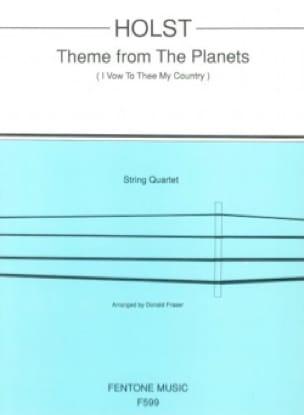 Theme from The Planets - String Quartet - HOLST - laflutedepan.com