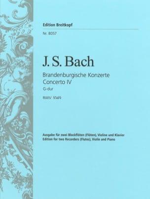 Brandenburgisches Konzert Nr. 4 - 2 Flûtes à bec violon piano laflutedepan
