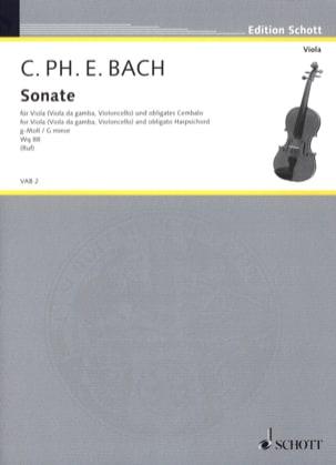 Sonate G-Moll, Wq 88 - Viola Carl Philipp Emanuel Bach laflutedepan