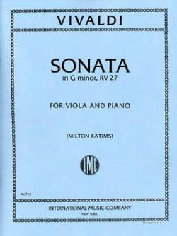 Sonata in G minor - Viola VIVALDI Partition Alto - laflutedepan