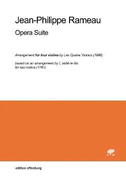 Opera suite RAMEAU Partition Violon - laflutedepan