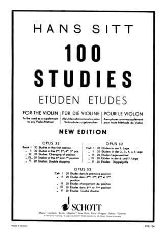 100 Etudes op. 32 - Cahier 4 - Hans Sitt - laflutedepan.com