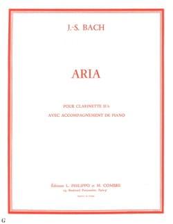 Aria - Clarinette BACH Partition Clarinette - laflutedepan