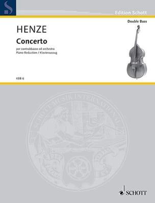 Concerto pour contrebasse Hans Werner Henze Partition laflutedepan