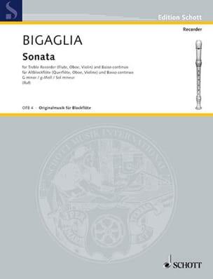 Sonate g-moll - Altblockflöte Diogenio Bigaglia Partition laflutedepan