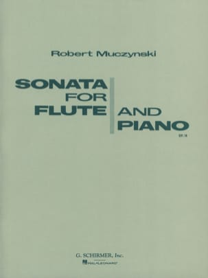 Sonata for flute and piano op.14 Robert Muczynski laflutedepan