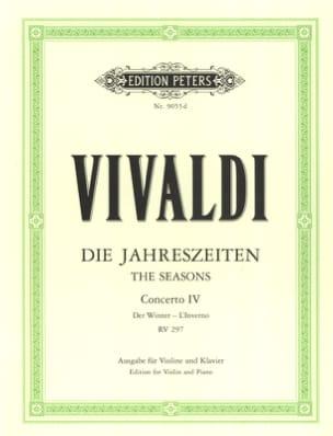 Concerto L'inverno op. 8 n° 4 RV 297 VIVALDI Partition laflutedepan