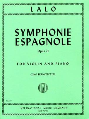 Symphonie espagnole op. 21 Francescatti LALO Partition laflutedepan