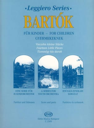 For Children - 14 little pieces - String orch. BARTOK laflutedepan