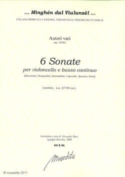 6 sonates - Partition - Violoncelle - laflutedepan.com