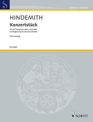 Konzertstück - Clarinette et piano HINDEMITH Partition laflutedepan