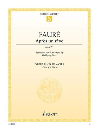 Après un rêve, opus 7 n° 1 - Hautbois et piano - laflutedepan.com