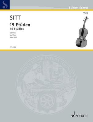 15 Etüden op. 116 - Viola Hans Sitt Partition Alto - laflutedepan