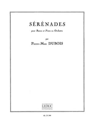 Sérénades Pierre-Max Dubois Partition Basson - laflutedepan