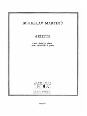 Bohuslav Martinu - Arlette - Partition - di-arezzo.co.uk