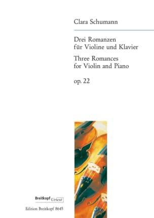 3 Romances op. 22 Clara Schumann Partition Violon - laflutedepan