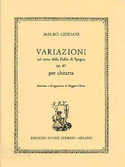 Variazioni op. 45 Mauro Giuliani Partition Guitare - laflutedepan