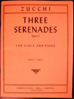3 Sérénades op. 3 - Giacomo Zucchi - Partition - laflutedepan.com