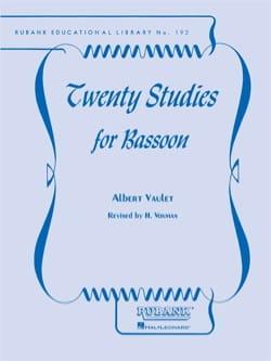20 Studies for Bassoon Albert Vaulet Partition Basson - laflutedepan