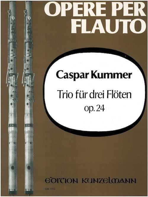 Trio op. 24 - 3 Flöten - Gaspard Kummer - Partition - laflutedepan.com