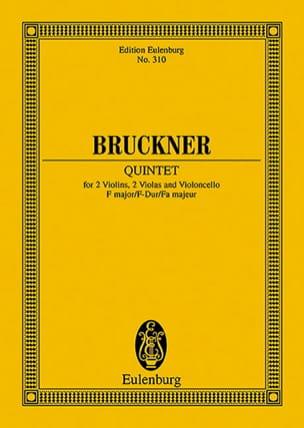 Quintette en Fa Majeur BRUCKNER Partition Petit format - laflutedepan