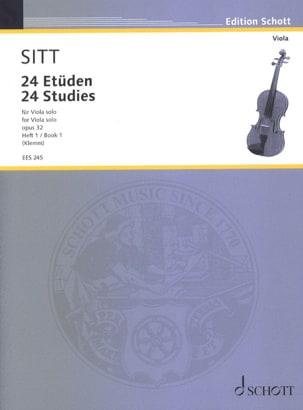 24 Etüden aus op. 32 - Heft 1 - Viola - Hans Sitt - laflutedepan.com