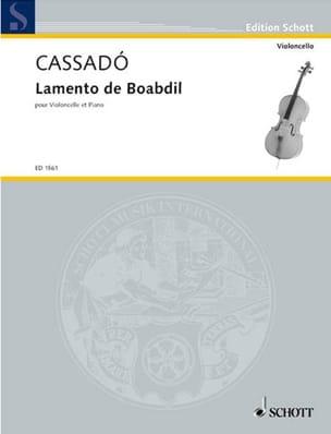 Lamento de Boabdil Gaspar Cassado Partition laflutedepan