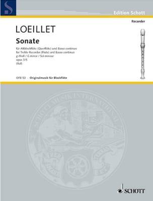 Sonate g-moll op. 3 n° 5 - Altblockflöte u. Bc LOEILLET laflutedepan