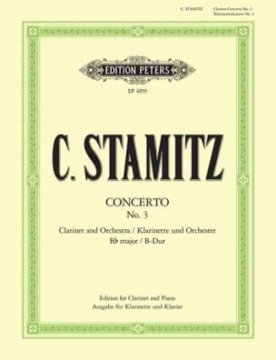 Concerto Nr. 3 B-Dur - Clarinette et piano STAMITZ laflutedepan