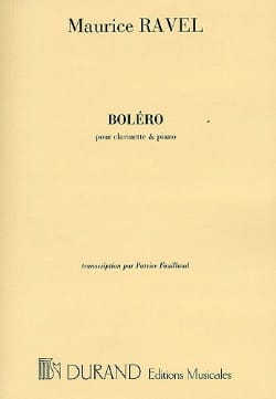 Boléro - Clarinette RAVEL Partition Clarinette - laflutedepan