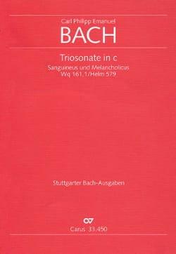 Triosonate in c-moll Wq 161/1 -Stimmen + Partitur laflutedepan