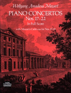 Piano Concertos N°17-22 - Full Score MOZART Partition laflutedepan