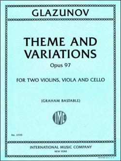 Thème et Variations, op. 97 - Quatuor à cordes - laflutedepan.com