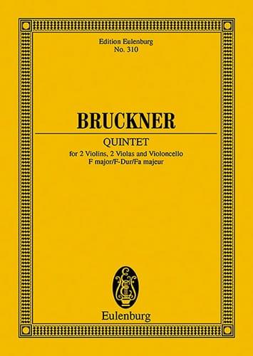 Quintette en Fa Majeur - BRUCKNER - Partition - laflutedepan.com