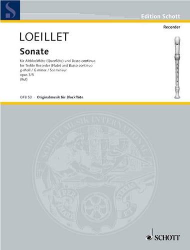Sonate g-moll op. 3 n° 5 - Altblockflöte u. Bc - laflutedepan.com