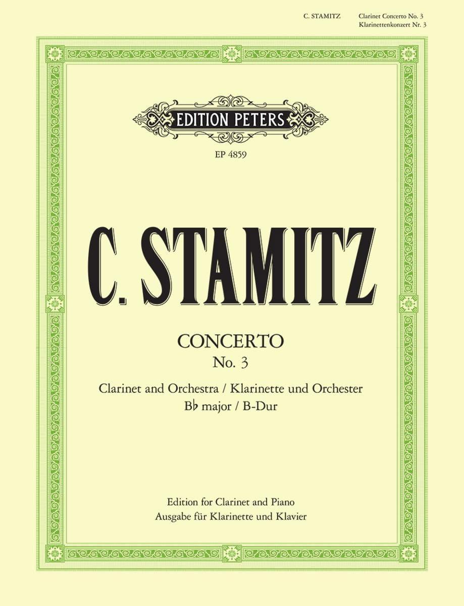 Concerto Nr. 3 B-Dur - Clarinette et piano - laflutedepan.com