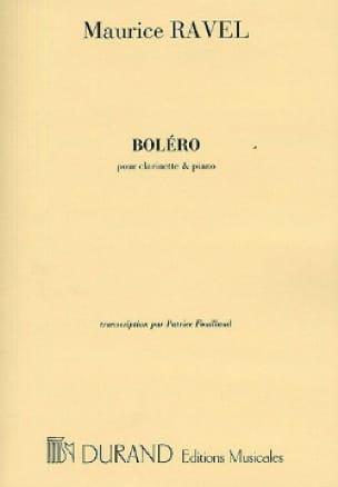 Boléro - Clarinette - RAVEL - Partition - laflutedepan.com