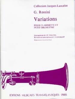 Variations pour Clarinette ROSSINI Partition Clarinette - laflutedepan