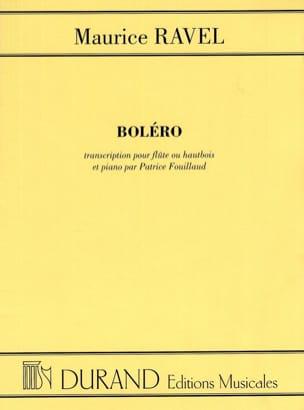 Boléro - Flûte ou hautbois piano RAVEL Partition laflutedepan