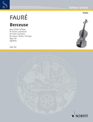 Berceuse en Ré Maj. Op.16 FAURÉ Partition Violon - laflutedepan