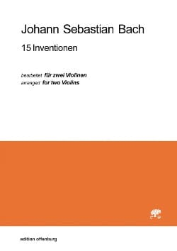 15 Inventions BACH Partition Violon - laflutedepan
