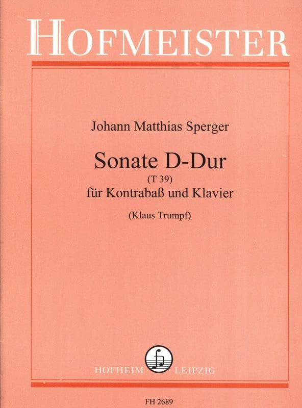 Sonate D-Dur T 39 - Johann Matthias Sperger - laflutedepan.com