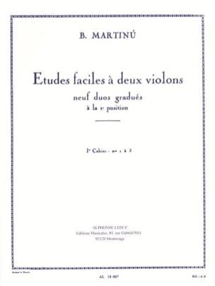 Etudes faciles à 2 violons - Volume 1 MARTINU Partition laflutedepan